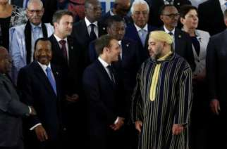 French President Macron with African leaders