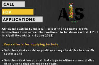 Africa Innovation Summit II  Call for Application Launched Across Africa For Innovations Addressing Continent's Challenges