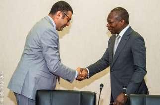 Karim Barhoumi with Benin President Patrice Talon