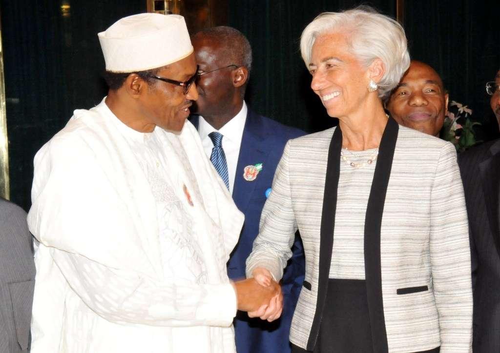 President Buhari with IMF Chief Christine Lagarde