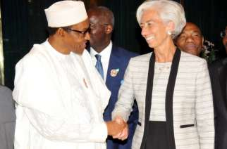 President Buhari with IMF Chief Christine Lagarde