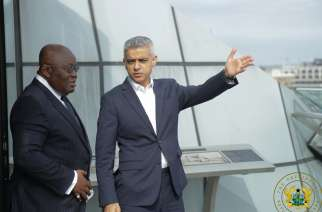 President Akufo Addo with the mayor of London Sadiq Khan