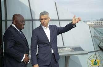 President Akufo Addo with the mayor of London Sadiq Khan