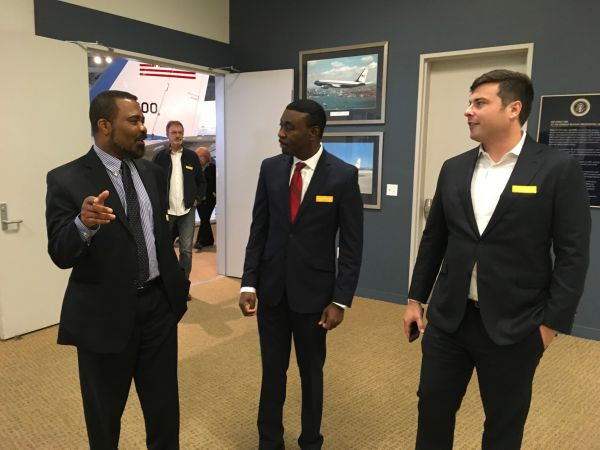 """Sam Mbonu was recently honored at an event at the """"Airforce One Boardroom at the Ronald Reagan Presidential Library, Simi Valley, California, USA"""