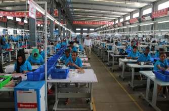 At the Huajian shoe factory in the Eastern Industrial Zone, Ethiopia. Credit: UNIDO.