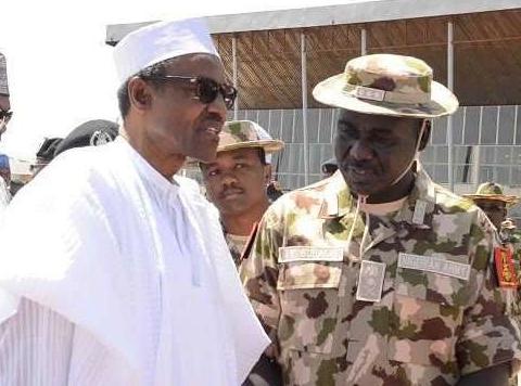 President Buhari with Buratai