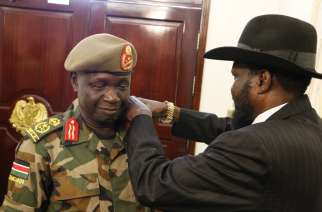 General James Ajongo Mawut with President Salva Kiir
