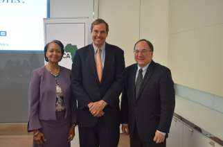 From L to R: Florizelle Liser, CCA President and CEO, Ray Washburne, OPIC President and CEO, Jeff Sturchio, CCA Board Chairman