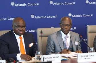 Gecamines Chairman Albert Yuma speaking at the Atlantic Council in Washington,DC