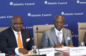 Gecamines Chairman Albert Yuma speaking at the Atlantic Council in Washington,DC