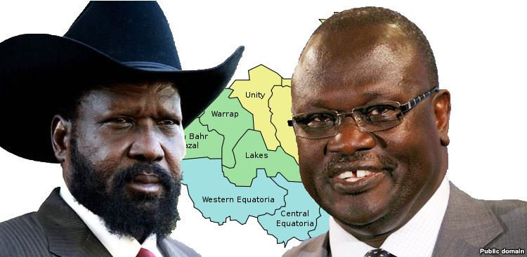 President Kiir And Riek Machar