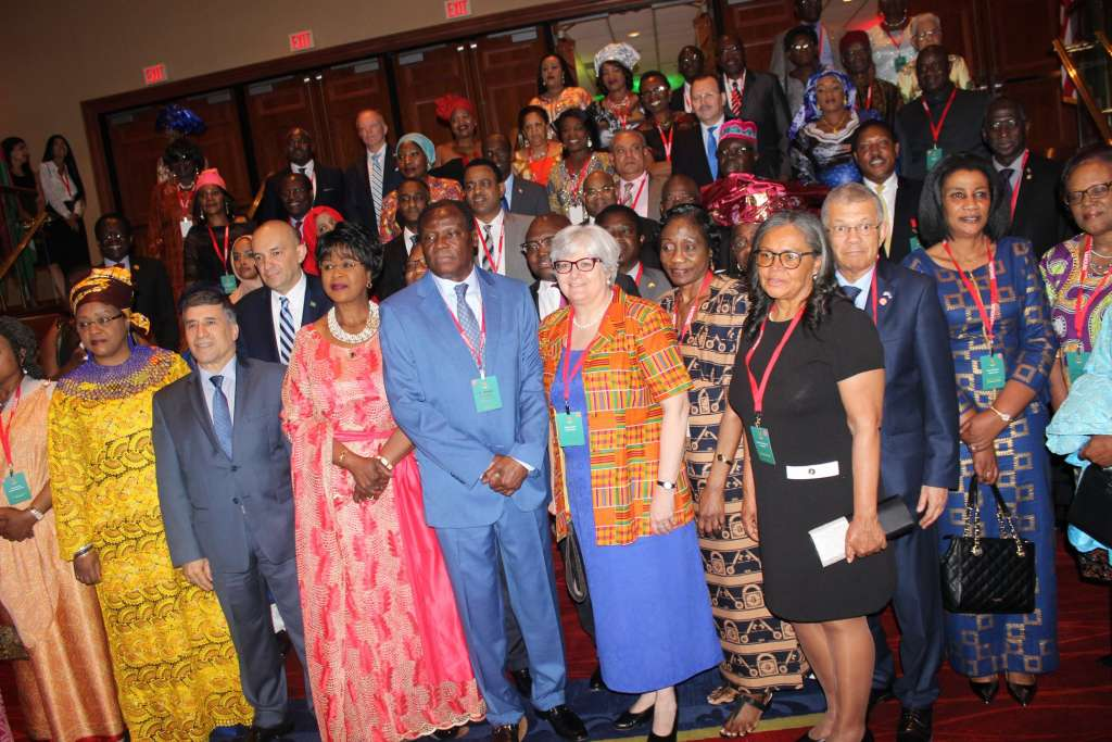 Ambassador Sullivan representing the State Department joins African Ambassadors for a group picture .Pic credit Ben Bangoura, AlloAfrica