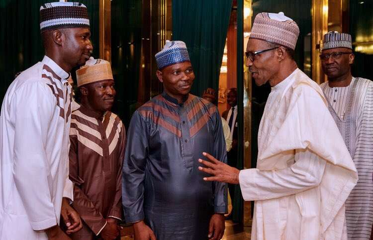 President Buhari meets with young people