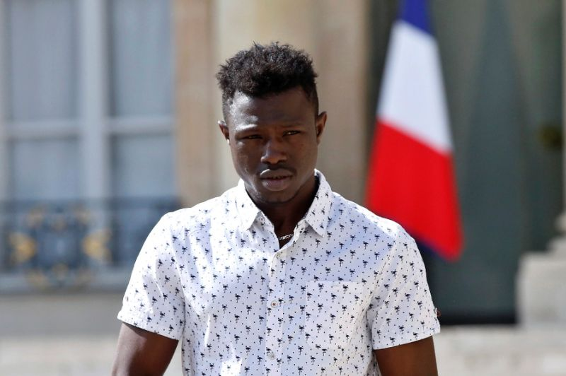 22-year old Mamoudou Gassama won global acclaim for rescuing a boy dangling from a balcony in France