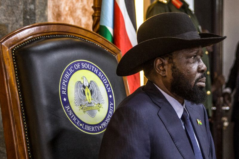 Washington has grown increasingly frustrated with the government of South Sudan's President Salva Kiir (AFP Photo/Stefanie Glinski)