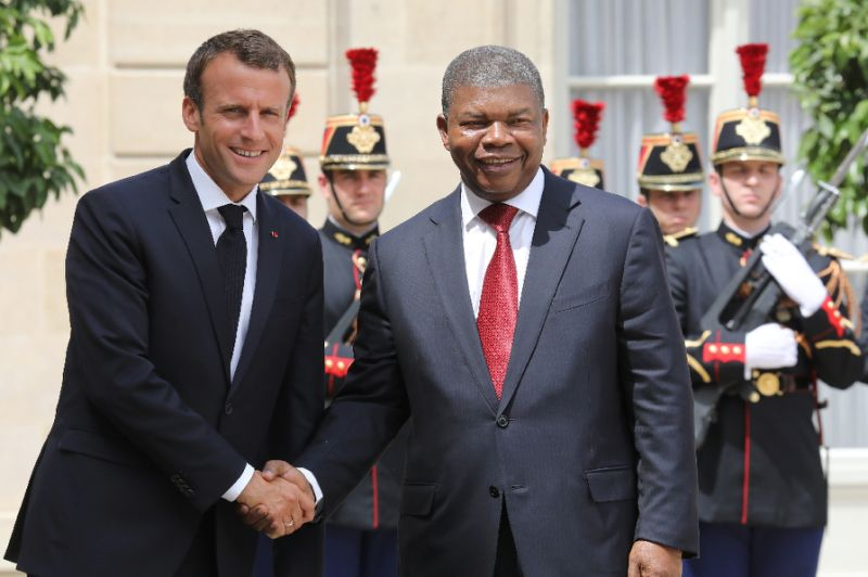 Macron met Angolan President Joao Lourenco in Paris (AFP Photo/ludovic MARIN)