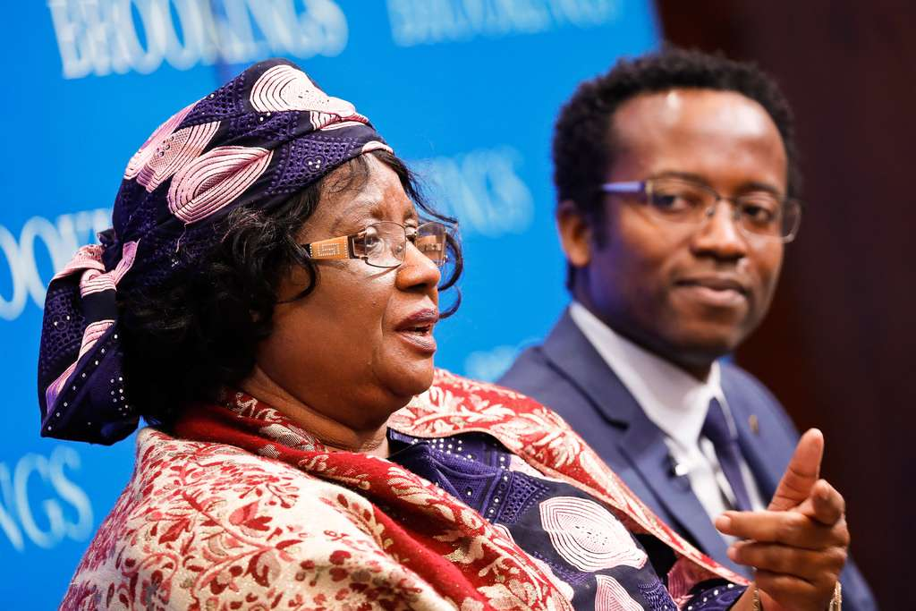 Former president Joyce Banda has come back to Malawi following four years away. Credit: Paul Morigi.