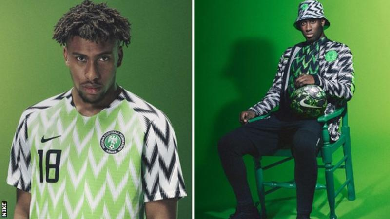 Alex Iwobi and Wilfried Ndidi were among the Premier League players to model Nigeria's new kit
