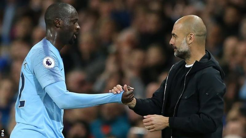 Yaya Toure (left) started one league game during the 2017-2018 season