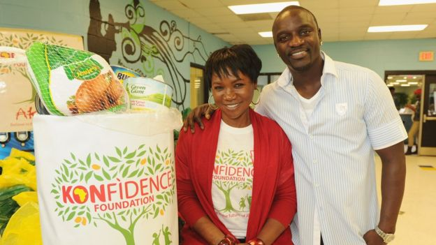Akon and Ms. Kine Gueye Thiam founded the Konfidence Foundation in 2007