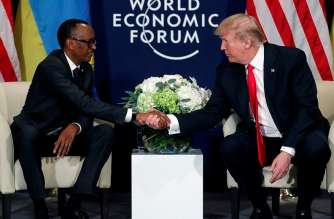 File picture from a meeting between Rwanda's Paul Kagame and President Tump.It would be misguided to dismiss this row with Rwanda as a small issue with a small country. The larger economic picture is much more worrying says Grant Harris