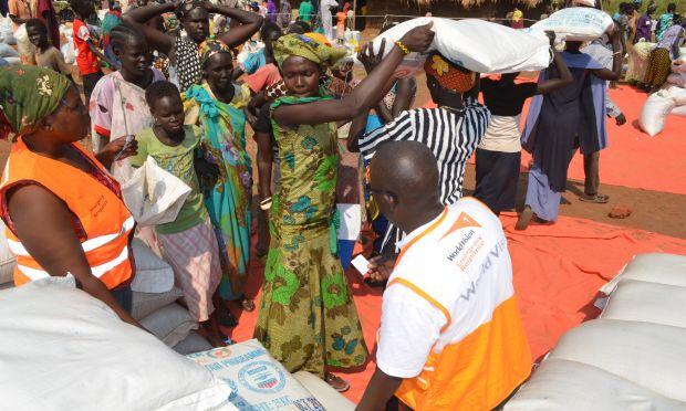 World Vision Uganda is distributing food to 138,530 S. Sudan refugees