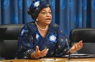 Former President Ellen Johnson-Sirleaf of Liberia
