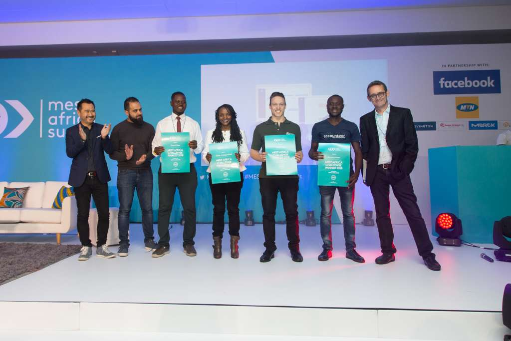 From L-R_ Jorn Lyseggen (Meltwater), Yusuf Kaka (MTN), Peter Awin (Cowtribe), Mary Mwangi (Data Integrated Ltd), Russel Luck (Swiftvee), Adegboye Niyi (Accounteer) and Julien Decot (Dir of Platform Pa