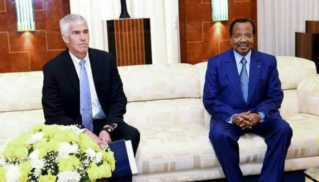 U.S Ambassador Peter Balerin in visit to President Biya at the Unity Palace. The ruling seems to be rattled with everything Balerin says