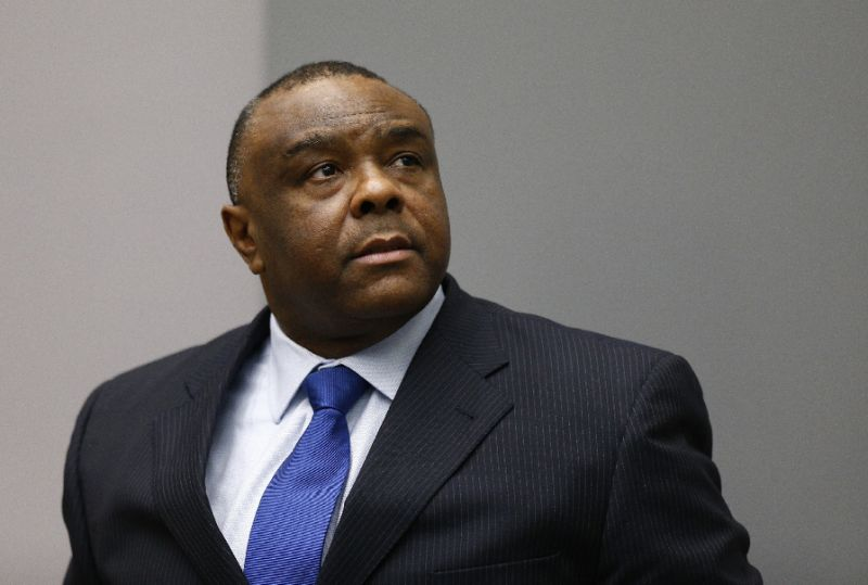 FILE PHOTO: Jean-Pierre Bemba Gombo of the Democratic Republic of the Congo sits in the courtroom of the International Criminal Court (ICC) in The Hague, June 21, 2016. REUTERS/Michael Kooren/