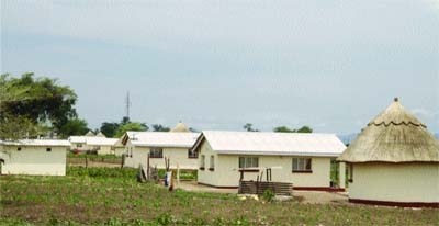 ARDA Transau homes where villagers from Chiadzwa were resettled.