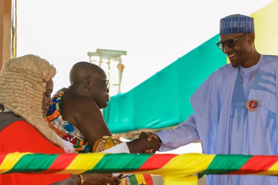 President Buhari with Akufo Addo