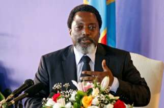 FILE PHOTO: Democratic Republic of Congo's President Joseph Kabila addresses a news conference at the State House in Kinshasa, Democratic Republic of Congo January 26, 2018. REUTERS/Kenny Katombe/File PhotoREUTERS