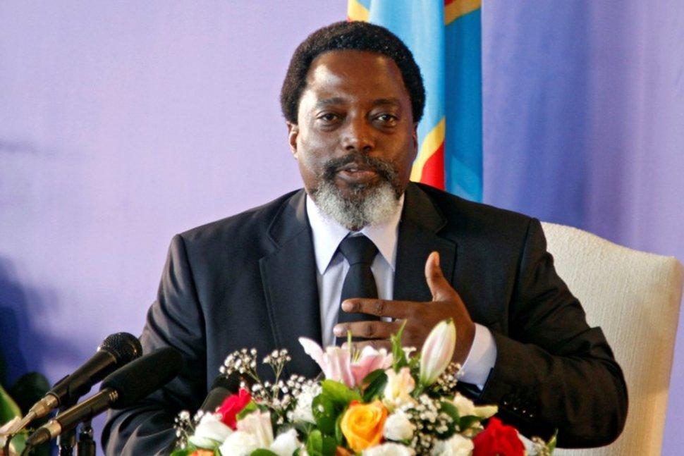 FILE PHOTO: Democratic Republic of Congo's President Joseph Kabila addresses a news conference at the State House in Kinshasa, Democratic Republic of Congo January 26, 2018. REUTERS/Kenny Katombe/File PhotoREUTERS