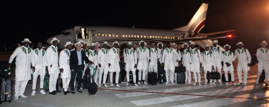 The arrival of Nigeria's national football team at Mineralnye Vody International Airport in the city of Mineralnye Vody, Stavropol Territory, Russia, ahead of FIFA World Cup Russia 2018. Getty Images