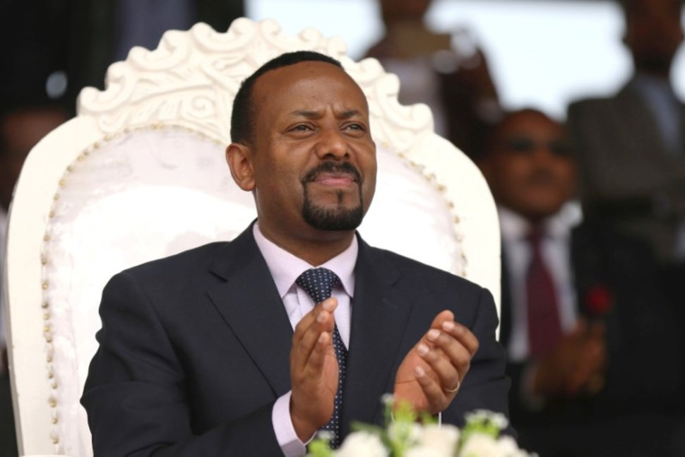 FILE PHOTO: Ethiopia's prime minister Abiy Ahmed attends a rally during his visit to Ambo in the Oromiya region, Ethiopia April 11, 2018. REUTERS/Tiksa Negeri/