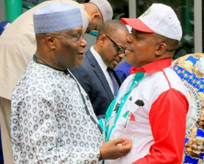 Former Vice President Atiku and PDP Chair Secundus