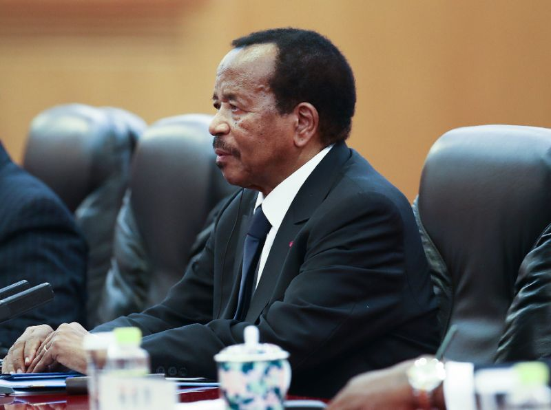 'The Sphinx': Biya, 85, has been president since 1982 (AFP Photo/Lintao Zhang)
