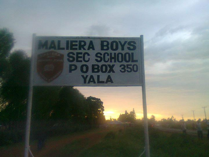 Maliera boys Secondary school has been closed following unrest by students
