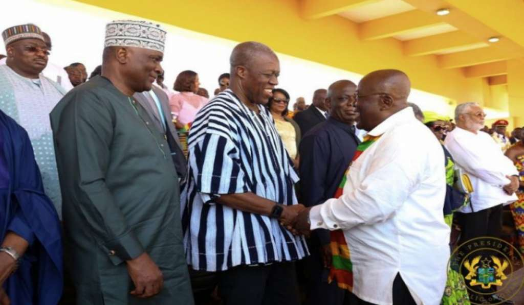 President Akufo-Addo with Paa Kwesi Amissah-Arthur