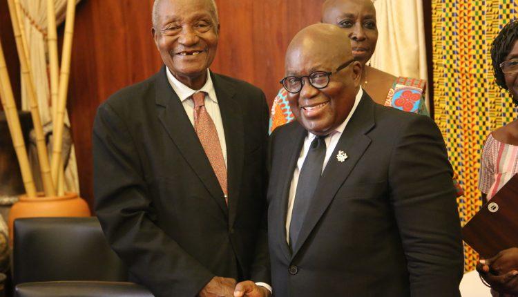 President Akufo Addo-with Ambassador E.M Debrah