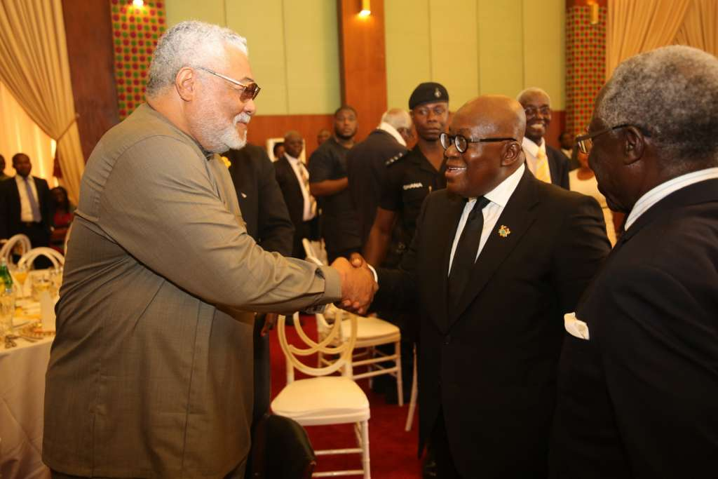 President Akufo Addo-with former President Rawlings