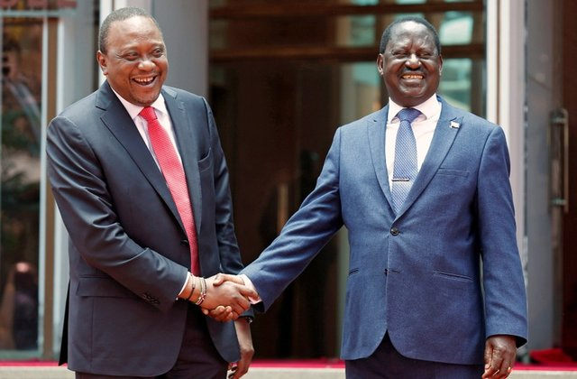 The Kenyatta-Odinga embrace  jolted  Kenyan politics
