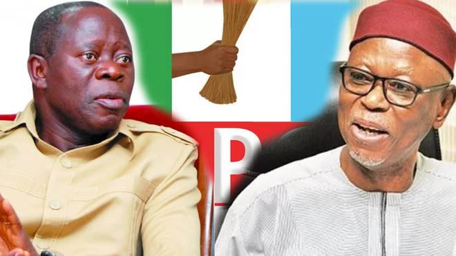 John Oyegun and Adams Oshiomhole