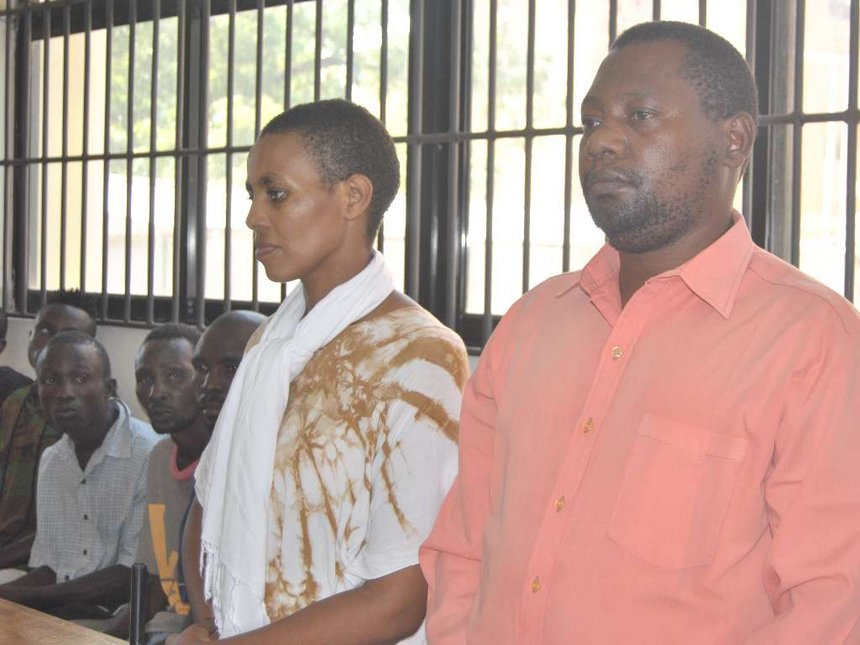Controversial Malindi televangelist Paul Mackenzie with his wife Joyce Mwikamba