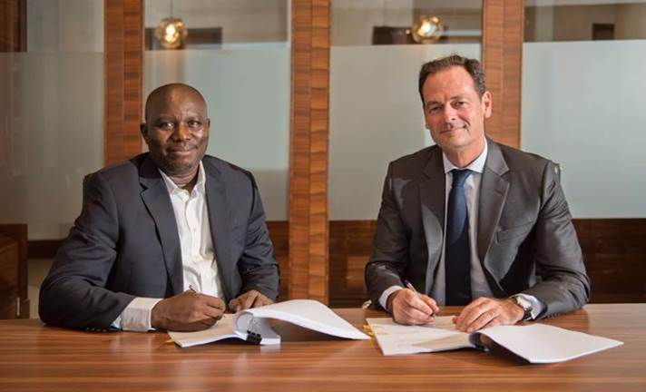 Engr Kola Ogundayo, Managing Director of Tom Hawksworth Limited  and Olivier Granet, CEO, AccorHotels Middle East and Africa