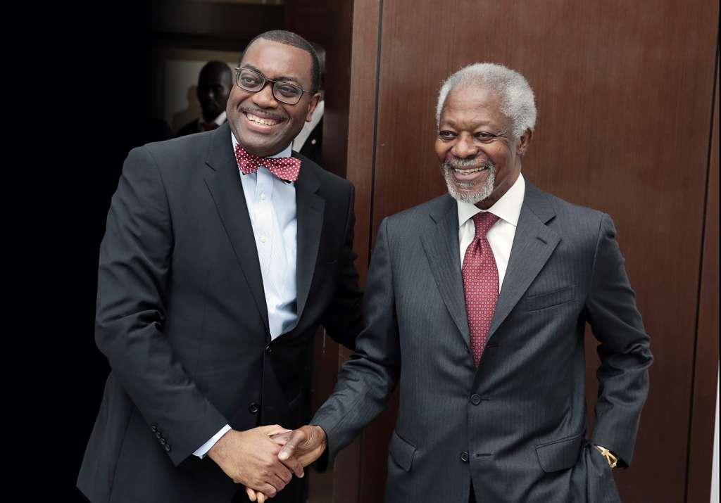 AFDB President Adesina with former UN SG Kofi Annan