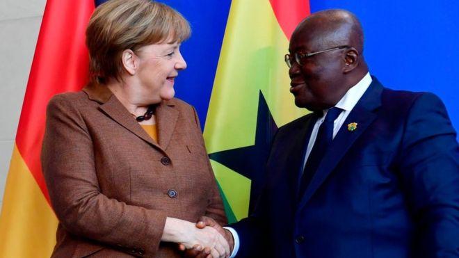 German Chancellor Merkel with Nana Addo at a previous meeting