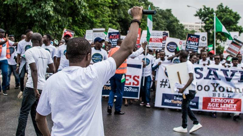 Young Nigerians are demanding more government representation in the 2019 elections [Courtesy of YIAGA]