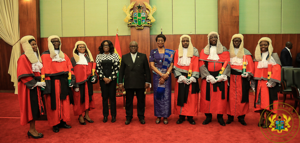 President Akufo Addo with the new-High Court